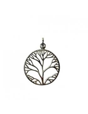 Pendentif arbre de vie-argent - abstrait