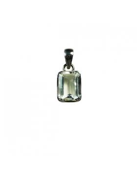 Bijou - pendentif en quartz blanc et argent - pierre fine