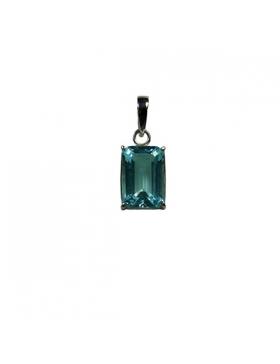 Bijoux - Pendentif en topaze bleue et argent