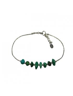 Bracelet turquoise - pierres fines en turquoise