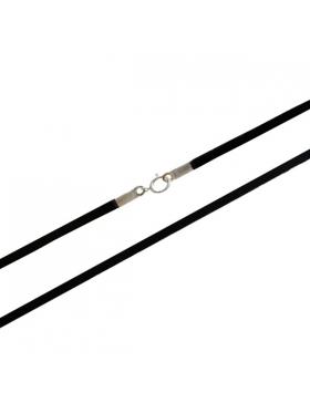 Cordon en daim noir 45 cm