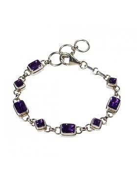 bracelet améthyste et argent - reflets de bijoux