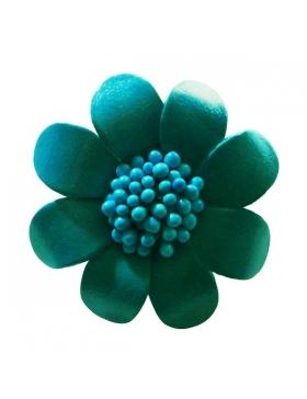 Accessoire de mode - Broche fleur en cuir