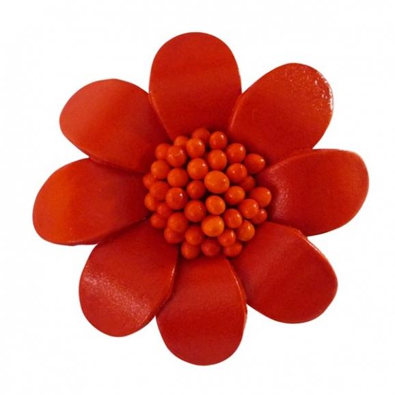 Accessoire de mode - fleur orange