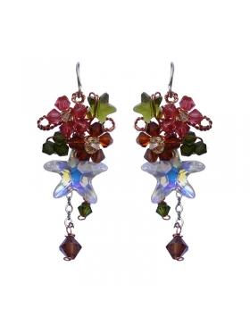 Boucles d'oreilles en cristal élégantes et féminines