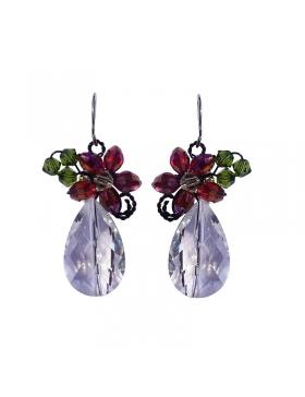 Boucles d'oreilles fantaisie hiver rouge et verte