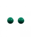 Boucles boules turquoise