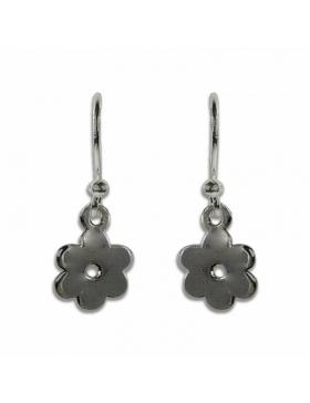 Boucles d'oreilles argent forme fleur