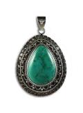 Pendentif oriental turquoise et argent