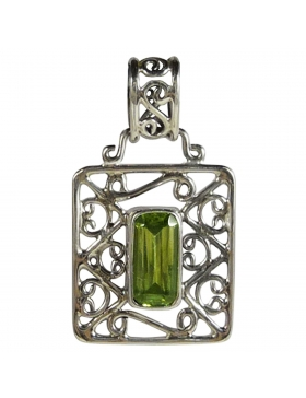 Pendentif-péridot reflets de bijoux