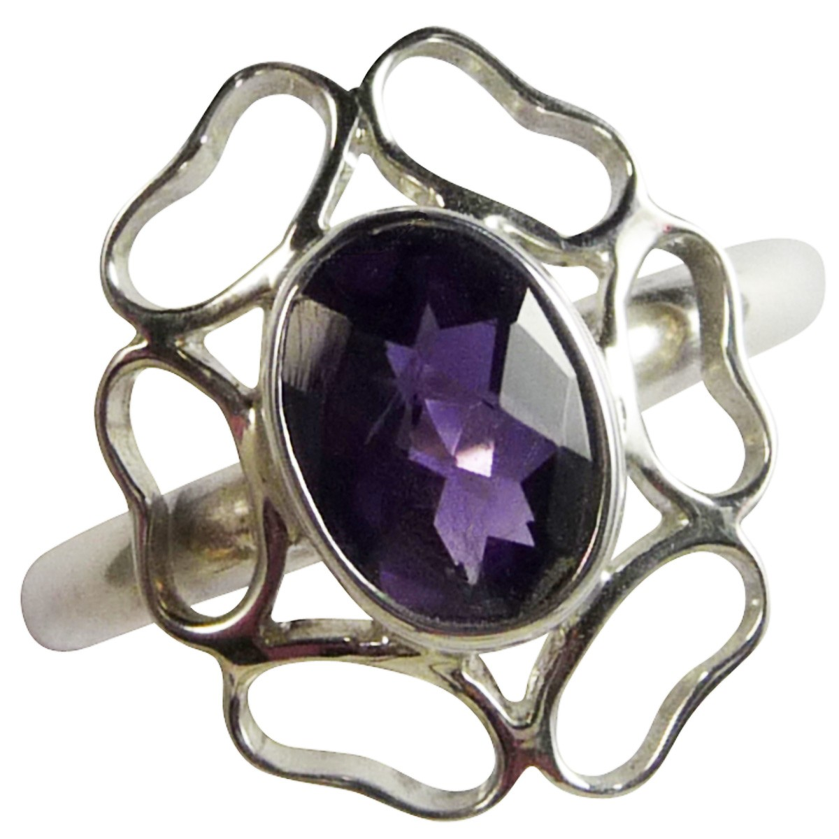 Bien-aimé Bagues en argent et améthyste - Bagues améthyste- Bague violette  JR66