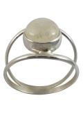 Bague pierre de lune - pierre blanche