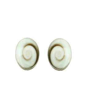 Clous d'oreilles en oeil de Sainte- Lucie ovales