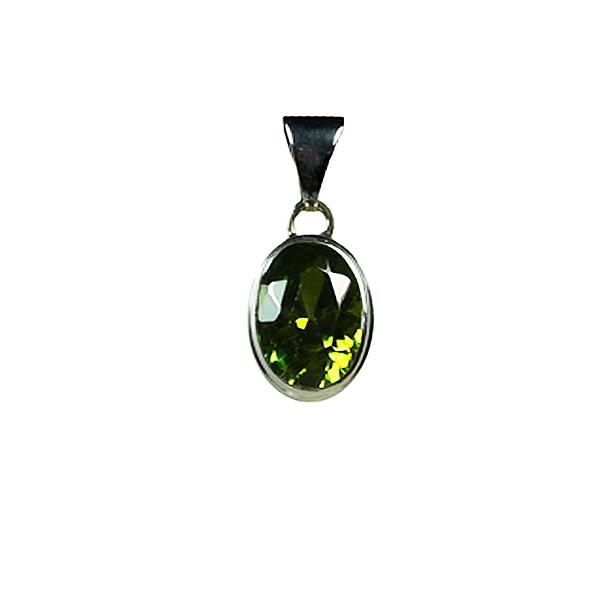 pendentif en peridot pierre verte