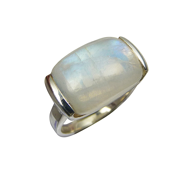 Bijoux bague en pierre de lune - pierres fines