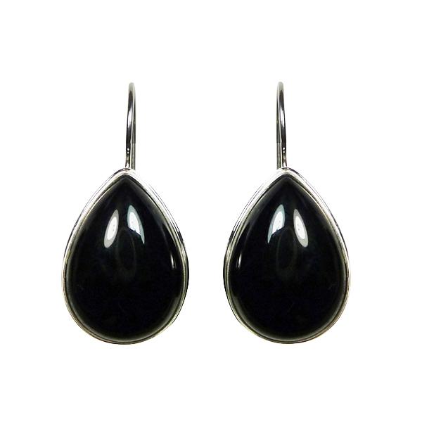 bijoux pierres semi précieuses noires onyx