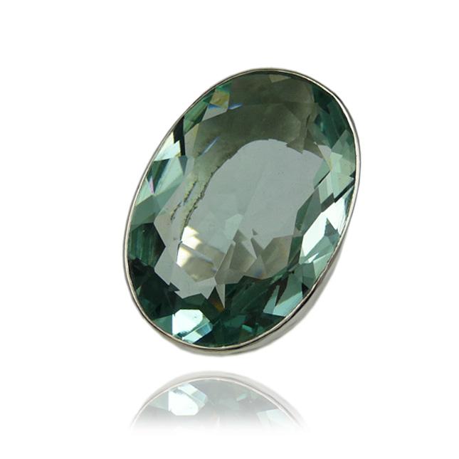 bague en obsidienne verte pierre semi précieuse