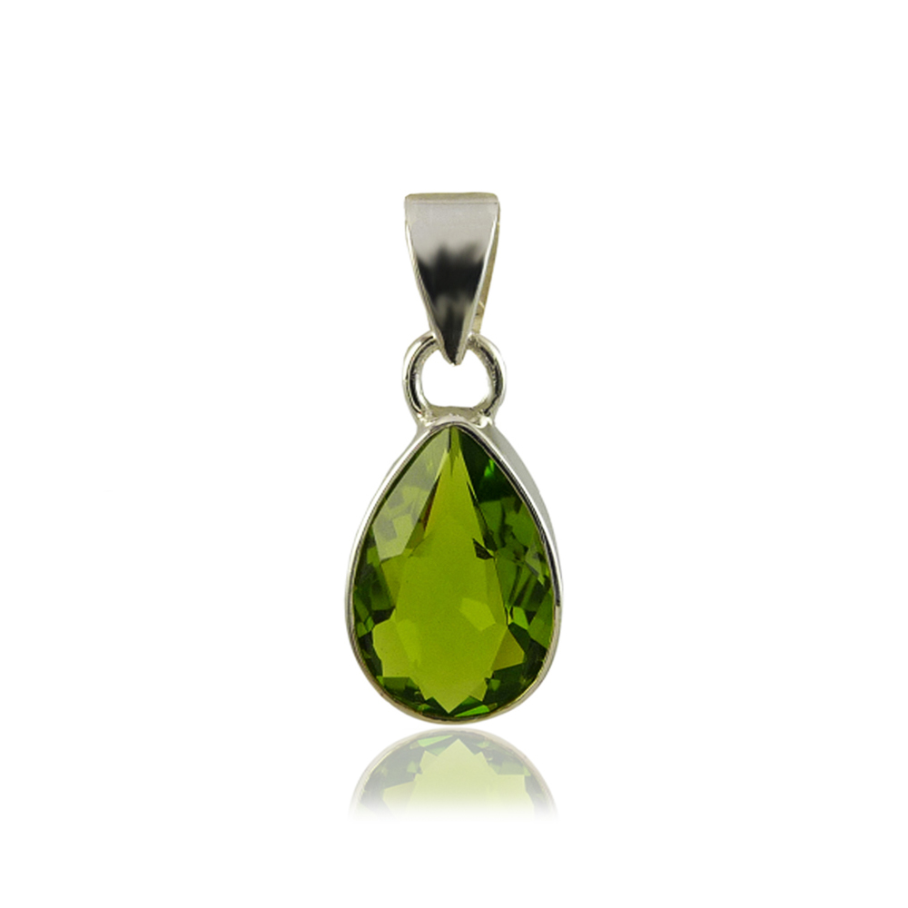Bijoux pierres - pendentif en péridot vert